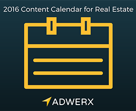 2016 content calendar for real estate agents