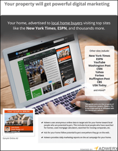 Adwerx Digital Listing Ad Flyer for Real Estate Presentation