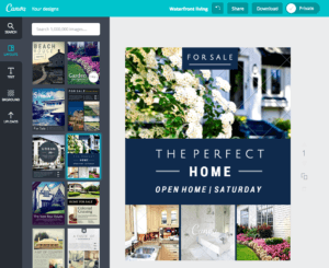 create real estate flyers with canva
