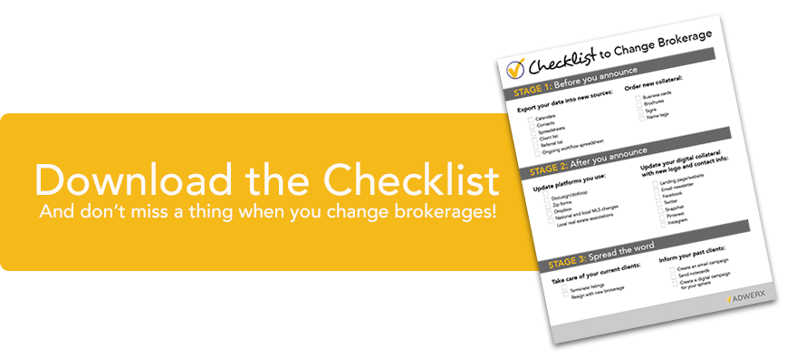 Checklist to change real estate brokerages download free