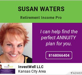 Susan Waters InvestWell LLC Retirement Income Pro. I can help find the perfect annuity for you