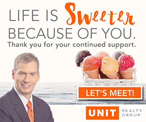 Life is sweeter because of you. Thank you for your continued support.