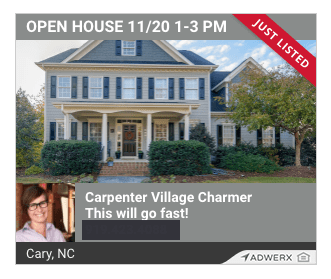 Adwerx digital listing ad carpenter village charmer